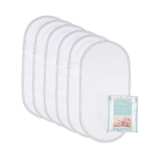 TILLYOU Soft Flannel Changing Pad Liners Waterproof, Washable Reusable Changing Table Cover Liners Double Layers, Hypoallergenic Cotton Flannel Surface, 11.5