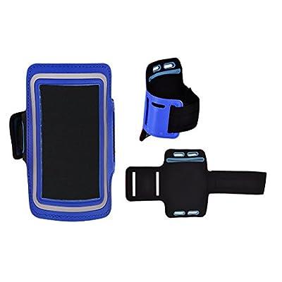 Zauberwölkchen® Design Sac de sport Armband in Bleu pour Samsung Galaxy S9Plus + SM-g965F en néoprène antidérapante avec Mats Clé/écouteurs à fermeture Écl
