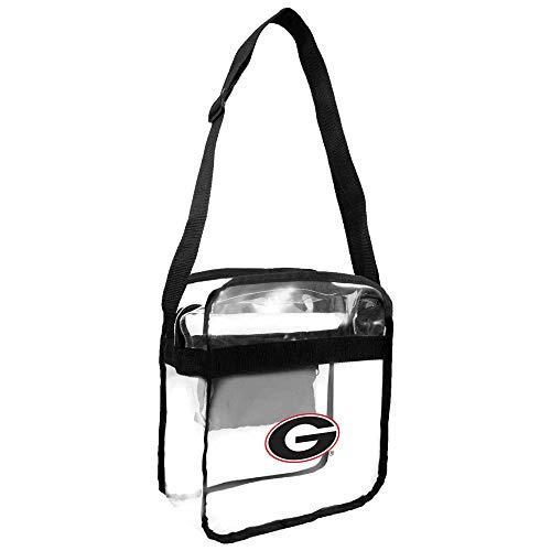 (NCAA Georgia Bulldogs Clear Carryall Crossbody Purse )