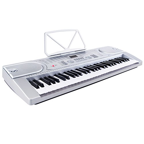 LAGRIMA Electric Piano Keyboard, 61 key Keyboard Music Piano Portable Electronic Digital paino with Microphone