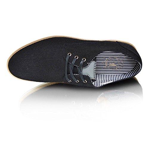 Neu Herren Formell Schnürbar Marineblau Denim Blau Lässig Elegant Sommermode Schuhe UK-Größen 6 7 8 9 10 11 - Schwarz, EU 40