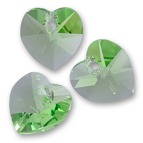 6202 Heart 10mm Crystal Beads - 7