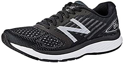 New Balance Men's 860 V9 Running Shoe, Black, 7 US (Wide)