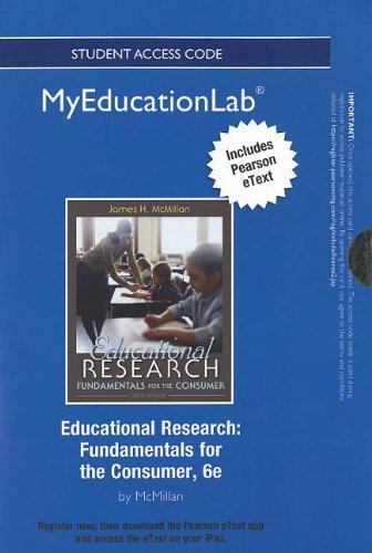 Download NEW MyEducationLab with Pearson eText -- Standalone Access Card -- for Educational Research: Fundamentals for the Consumer (myeducationlab (Access Codes)) ebook