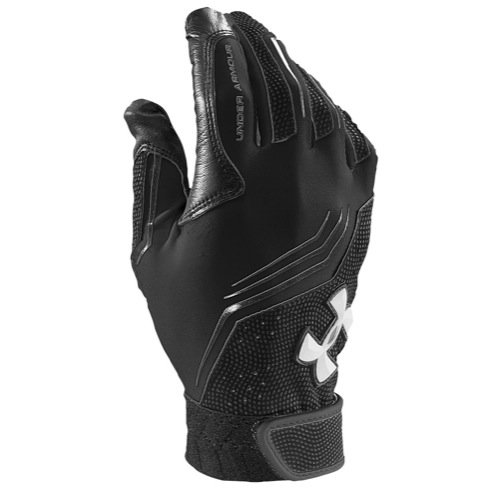 Under Armour Men's Clean Up V Batting Gloves Black/White Size Small