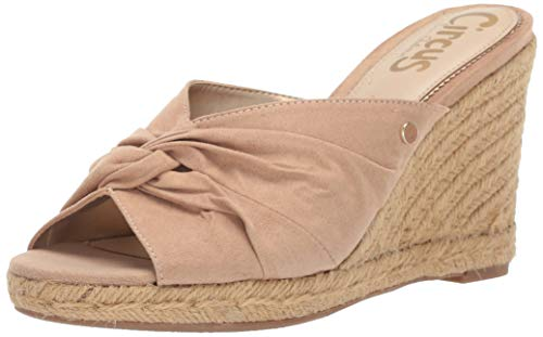 Circus by Sam Edelman Women's Bea Espadrille Wedge Sandal Golden Caramel Microsuede 9 M US