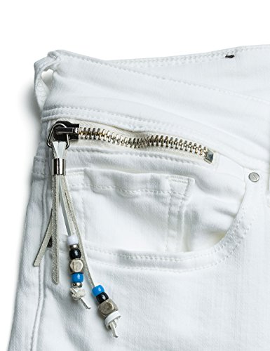 para Denim REPLAY Ajustados Blanco 1 Coin White Zip Jeans Mujer Luz xqwXzqp