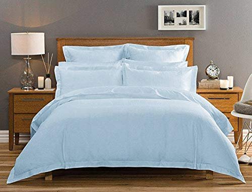 - Dolphin Collections 1200 Thread Count Italian Finish 100% Egyptian Cotton 4-Piece Bed Sheet Set, Fits Mattress Up to 19 inches Deep Pocket, Solid Pattern (Color - Sky Blue, Size - Queen).