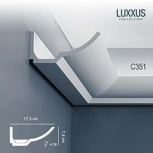 Cornisa Moldura Perfil de estuco para Iluminación indirecta Orac Decor C351 LUXXUS Elemento decorativo 2 m