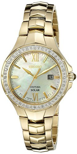 Seiko Women's SUT242 Coutura Analog Display Japanese Quartz Gold (Coutura Mother Of Pearl Dial)