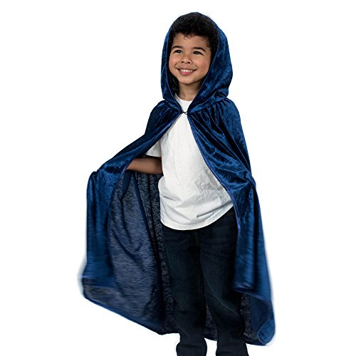 Kids Cosplay Hooded Cloak Cape - Navy Blue]()