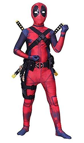 Functional Halloween Costumes (Unisex Superhero Lycra Spandex Zentai Halloween Cosplay Costumes Adult/Kids 3D)