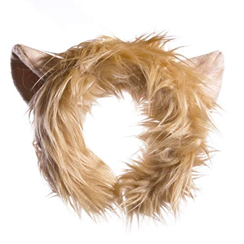 Wildlife Tree Plush Lion Ears Headband Accessory for Lion Costume, Cosplay, Pretend Animal Play or Safari Party Costumes -