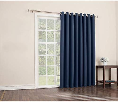 1Pieza 84 puerta corredera puerta de cristal cortina de poliéster ...