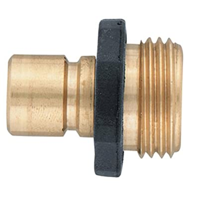 Orbit Aluminum Male Garden Water Hose Quick Connect Fitting for fast disconnect