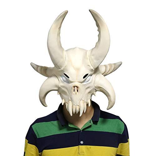1978 Halloween Mask Painted (Traioy Halloween Mask, Cow Skull Alpaca Mask Dusk Fortress Night Mask Makeup Costume Horror Mask Headpiece)