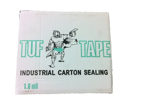 Tuf Tape Industrial Carton Sealing: 48mm X 100m; 2'' X 110 Yards; 1.6 Mil; Clear (36 Rolls/case) by World Packaging Inc.