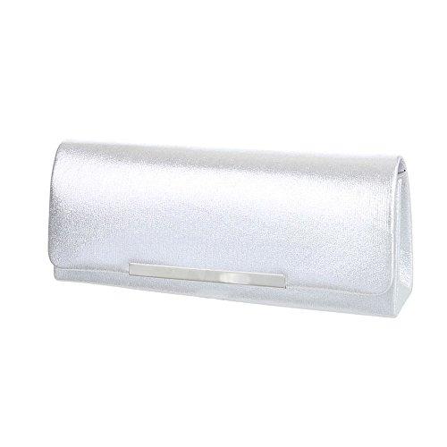 Taschen Used Optik Schultertasche Modell Nr.2 Silber