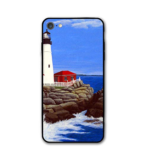 Portland Watchtower Printed iPhone 7/8 Case Black/Transparent Plastic Back with Durable Bumper Protective 4.7 Inch