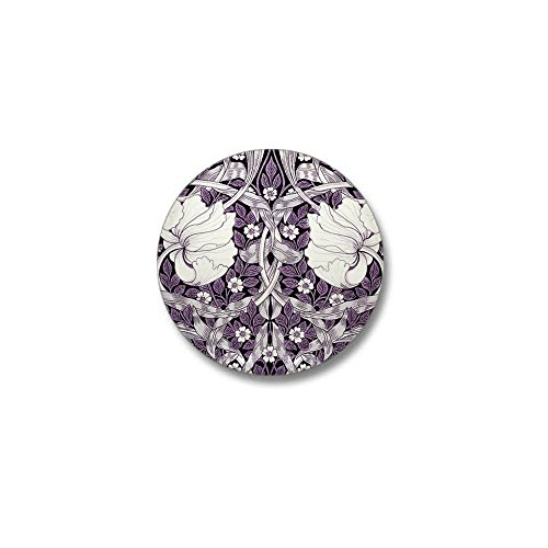 CafePress - Purple White Tulips Mini Button - 1