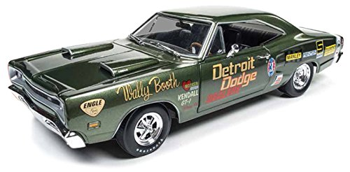 Dodge 1969 Super Bee Wally Booth F8 Green Limited Edition to 1002pcs 1/18 by Autoworld AW234