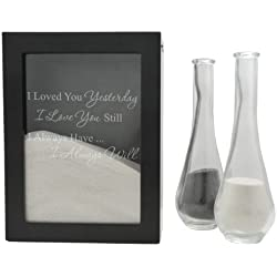 Cathy's Concepts Always Design Sand Ceremony Shadow Box, Black