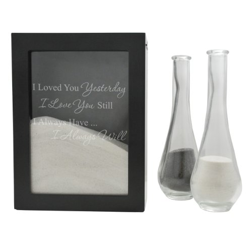 (Cathy's Concepts Wedding Unity Sand Ceremony Shadow Box, Black - Our Loves Written in The Sand)