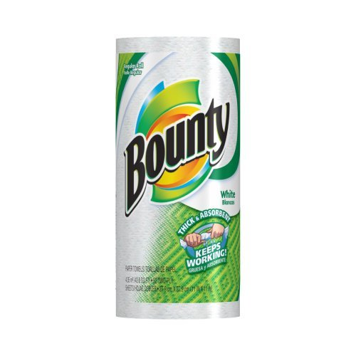 Bounty Paper Towels, White, Regular Roll (Case of 30) by Bounty