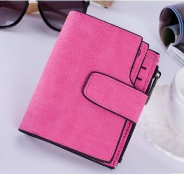 Short Women Wallets Designer Famous Luxury Brands Clutch Bags Ladies Women's Purse Coin Card Holder Pink one size