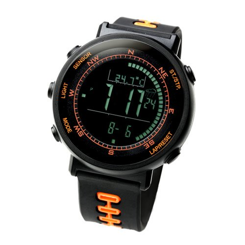 Dive Watch Compass ([Lad Weather] Swiss Sensor Watches Digital Compass Altimeter Weather Forecast Barometer Thermometer Alarm Calendar Chronograph Stopwatch Timer)