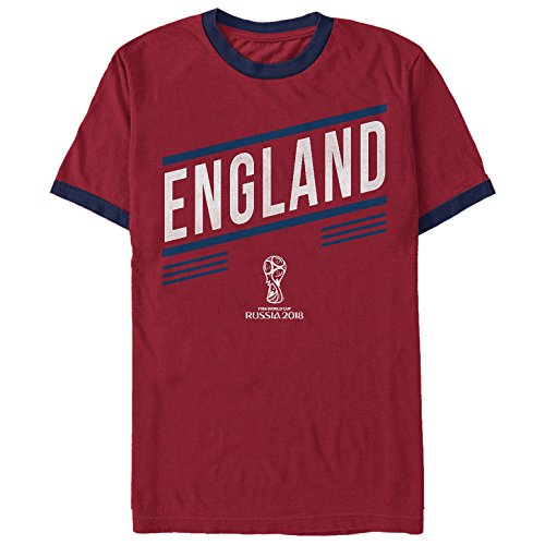 World Cup Winners (Fifth Sun FIFA World Cup Russia 2018 Men's England Slant Red/Navy Blue Ringer T-Shirt)