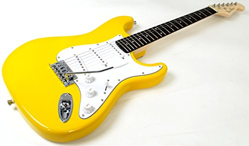 Amazon.com: PhotoGenic photogenic electric guitar Stratocaster type ST-180 / YW yellow: Musical Instruments