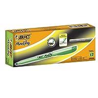 BIC Brite Liner Resaltador, punta de cincel, verde, 12 unidades