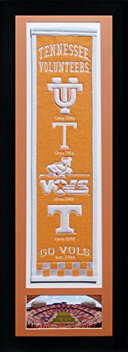 NCAA Tennessee Volunteers (Vols) Legends Never Die Team Heritage Banner with Photo, Team Colors, 15