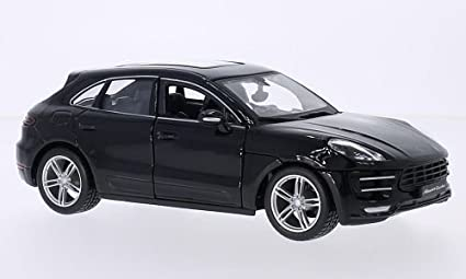 Porsche Macan Turbo, black, 0, Model Car, Ready-made, Bburago