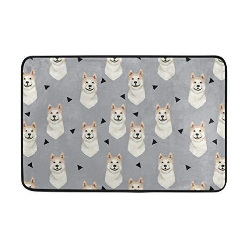 - Doormat Akita Dog Gray Bath Rugs- Non Slip Entrance Rug Welcome Door Mats, HCMusic 23.6x15.7