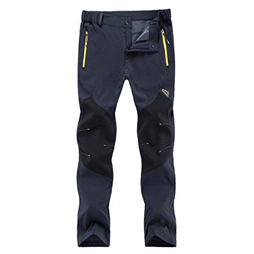 Moxeay Outdoor Lightweight Waterproof Hiking Mountain Pants (Large, Gray)