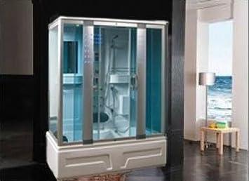 Cabina de ducha hidromasaje Sauna Baño Turco 160 x 85: Amazon.es: Hogar