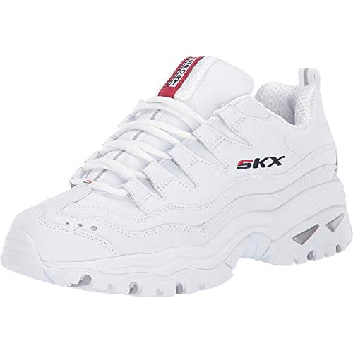 chollos oferta descuentos barato Skechers Energy Timeless Vision Zapatillas Mujer Blanco Blanco Cuero Rojo Navy Trim Wml 37 5 EU