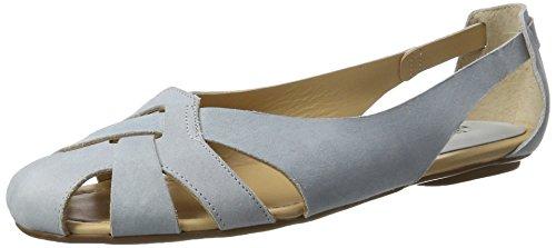 Shoe Biz Sandal Flat, Sandalias con Cuña para Mujer Azul (Nubuk Light Blue)