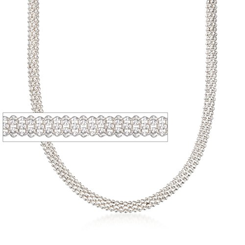 Ross-Simons Italian 6mm Sterling Silver Popcorn Chain ()