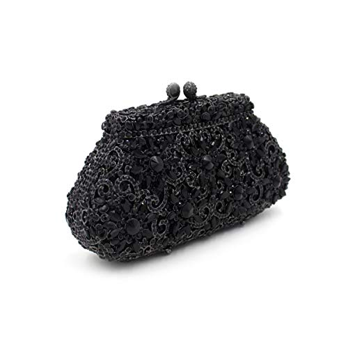 dîner creux cristal Sac de de Embrayage de de de diamant Black Sac métal de Couronne strass en papillon sac luxe la de de xz7qdrv7n