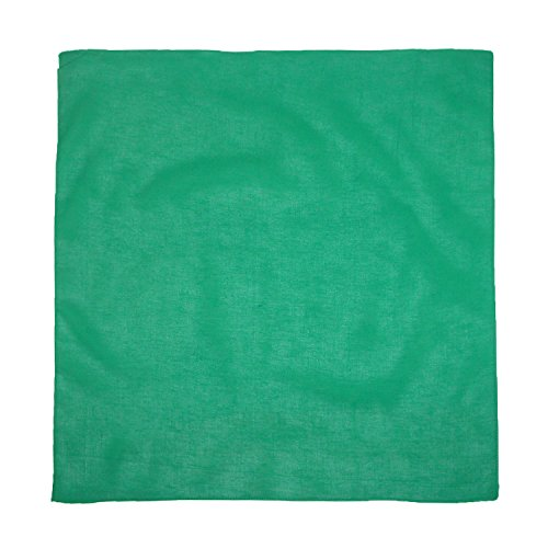 (CTM Cotton Solid Color Bandanas, Forest Green)
