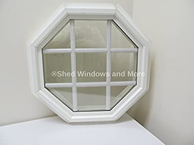 """Octagon Window Double Pane 20"""" Insulated PVC Frame with Grids"""