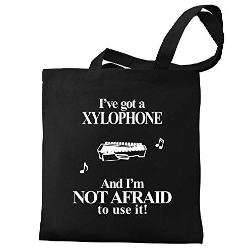 Tengo No Tote Bag De Xylophone Afraid I'm De Un Tengo Y Utilizarlo I've Canvas Eddany Xilófono Bolsos Lona Miedo Eddany Not It Got Use A And To wqTHnaBA