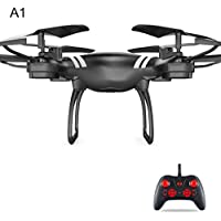 Gentman KY101 2.4GHz RC 6-axis Gyroscope Quadcopter FPV Altitude Hold with Camera Drone Headless Mode (Black:Altitude Hold Standard Configuration)