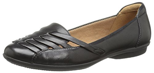 CLARKS Women's Gracelin Gemma Loafer Flat, Black Leather, 10 Medium US by CLARKS