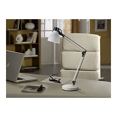 Schuller Spain 475863I4L Traditional white Adjustable Table Lamp Black 1 Light Living Room, bed room, Study, Bedroom LED, White Adjustable neck desk lamp | ideas4lighting by Schuller