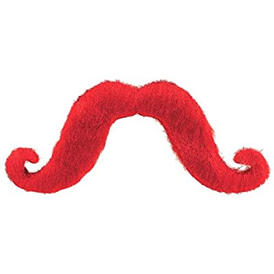 Amscan Moustache, Party Accessory, Red: Toys & Games