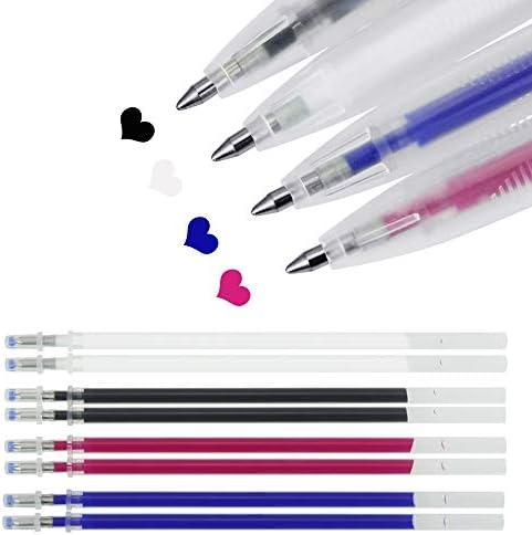Yangfr 4 St/ück verschwindende Tinte Stoff Marker Marker Stift Stoff Markierstift DIY Needlework Tools Hot Pink